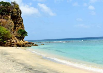 this beach is 3 minutes walk from our seafront villas